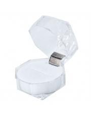 Przeźroczyste pudełko na pierścionek lub obrączki