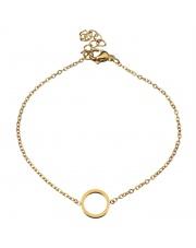 Złota bransoletka celebrytka kółeczko ze stali szlachetnej 316L