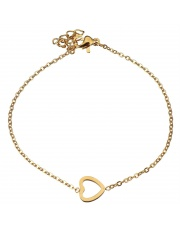Złota bransoletka celebrytka serduszko ze stali szlachetnej 316L