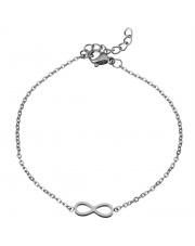 Srebrna bransoletka celebrytka infinity nieskończoność ze stali szlachetnej 316L