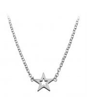 Srebrny naszyjnik, łańcuszek celebrytka gwiazdka ze stali szlachetnej 316L