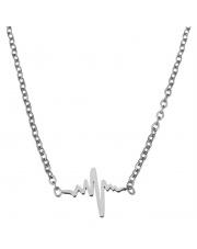 Srebrny naszyjnik, łańcuszek celebrytka rytm ze stali szlachetnej 316L