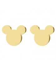 Złote kolczyki celebrytka myszka miki mickey mouse ze stali szlachetnej 316L