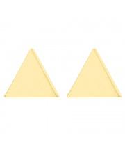 Złote kolczyki celebrytka trójkąt ze stali szlachetnej 316L