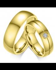 Komplet złotych obrączek dla pary ze stali szlachetnej 316L KO15