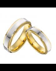 Komplet złotych obrączek dla pary ze stali szlachetnej 316L KO16